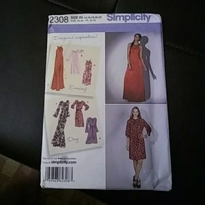 Dress pattern simplicity evening dress  day dress